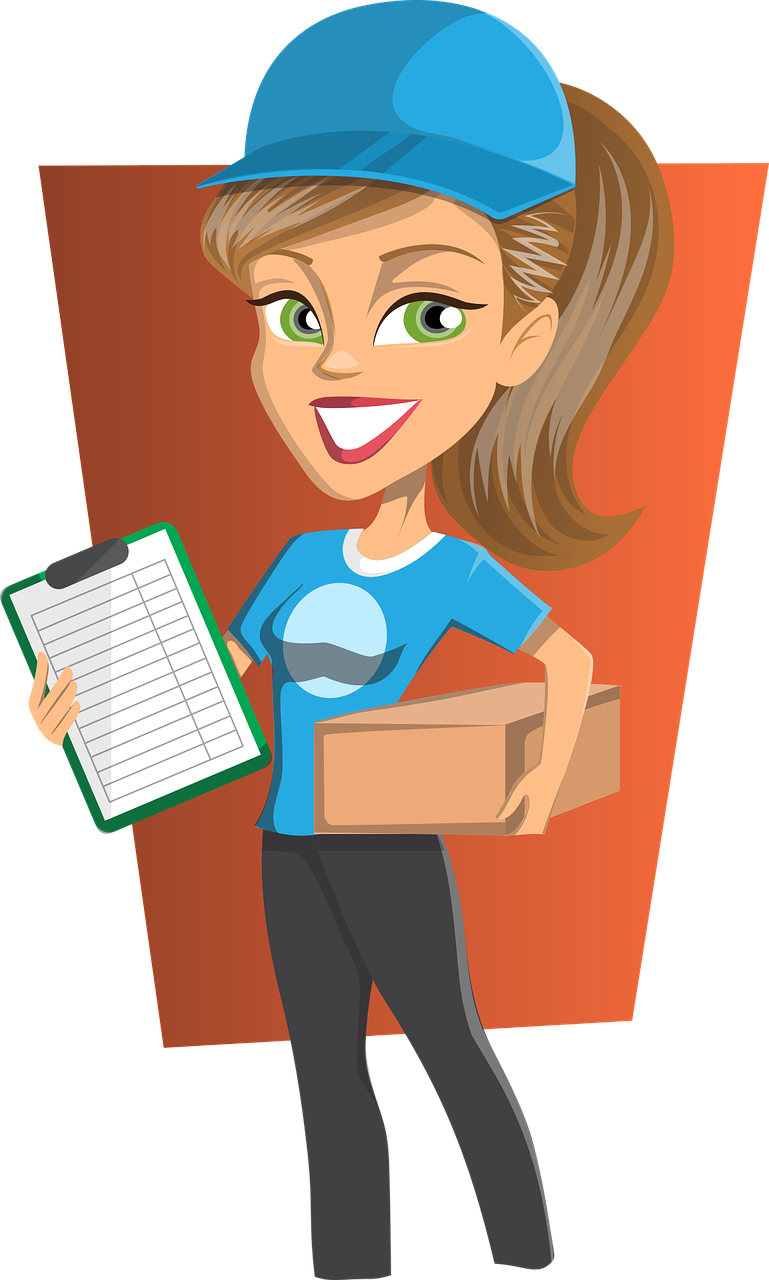 delivery, girl, courier-1417310.jpg